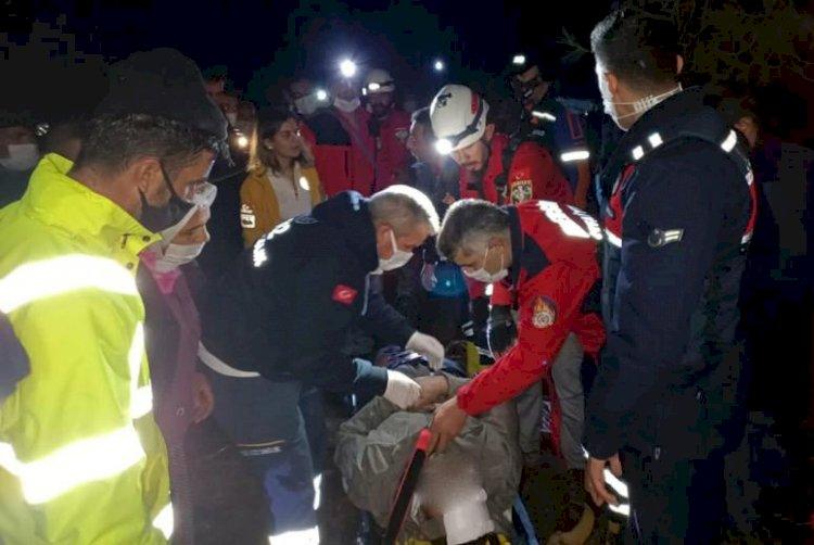 Gülnar'da Mantar Toplarken 15 Metrelik Kayalıklardan Düştü